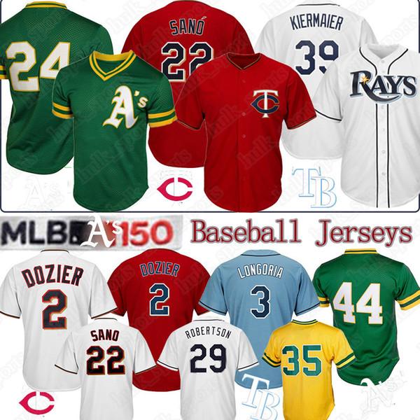 22 Miguel Sano Minnesota Twins Jersey 2 Brian Dozier 24 Rickey Henderson Tampa Bay 39 Kiermaier Ray 150e maillots de baseball