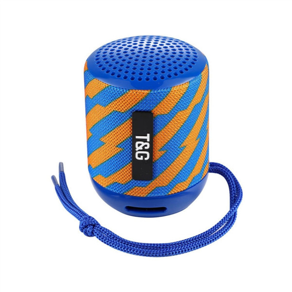2019 Mini Bluetooth Speaker TG129 Wireless Portable Subwoofer MP3 Player FM Radio Audio TF Card USB Outdoor Speakers DHL