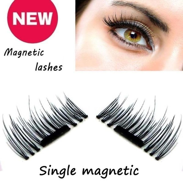 3D Magnetic False Eyelashes Thin Reusable Fiber Handmade Long Extension Fake Eye Lashes No Glue With Gift Box