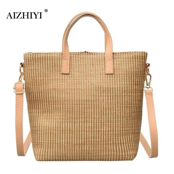 Straw Handbags Summer 2018 Women Small Handbag Ladies Shoulder Bag Rattan Bags Beach Crossbody Top-handle Totes Bag For Travel