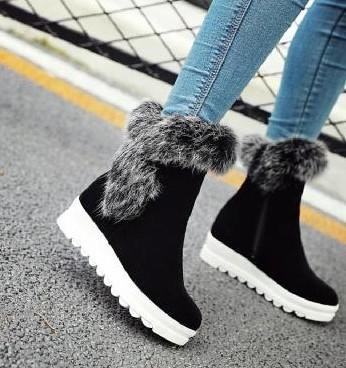 New Arrival Hot Sale Specials Super Fashion Influx Cowgirl Winter Female Velvet Cotton Rabbit Hair Suede Students Casual Ankle Boots EU33-43