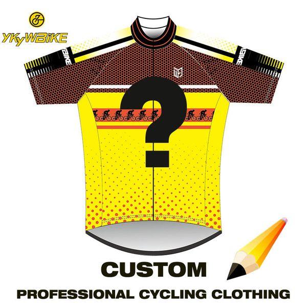 Maglia da ciclismo YKYWBIKE 2019 Abbigliamento da ciclismo traspirante personalizzato di alta qualità Pro Team Mountain Bike Jersey Maillot Ciclismo Hombre