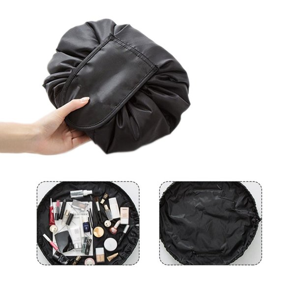 Fashion Travel Drawstring Cosmetic Bag Case Makeup Bag Organizer Make Up Case Storage Pouch Toiletry Beauty Kit Wash
