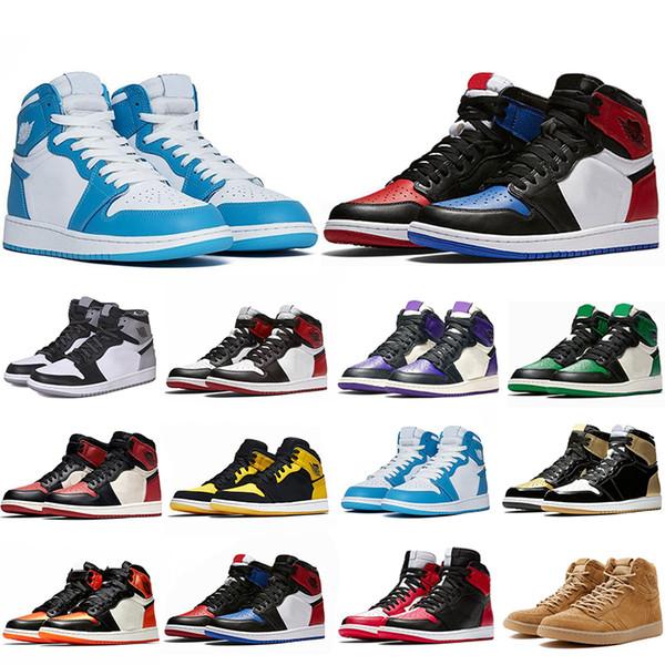 Nuovo arrivo 1 1s Mens scarpe da pallacanestro non per la rivendita Rosso Giallo parigi saint tedesco Top 3 scarpe da ginnastica UNC Designer EUR 40-47