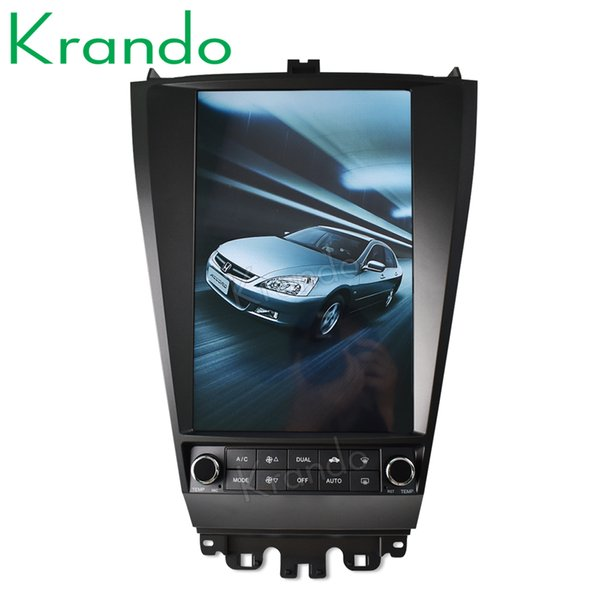 "Krando Android 8.1 12.1"" Tesla Vertical screen car dvd audio radio player for Honda accord 7 2003-2007 gps navigation multimedia system"