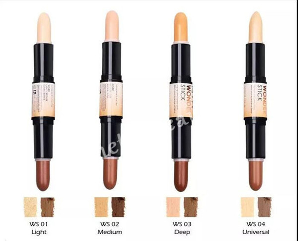 Hot NYX Wonder Stick Highlights und Konturen Schatten Stick Light Medium Deep Universal 4colors Gesicht Stiftung Make-up Concealer Pen Schiff