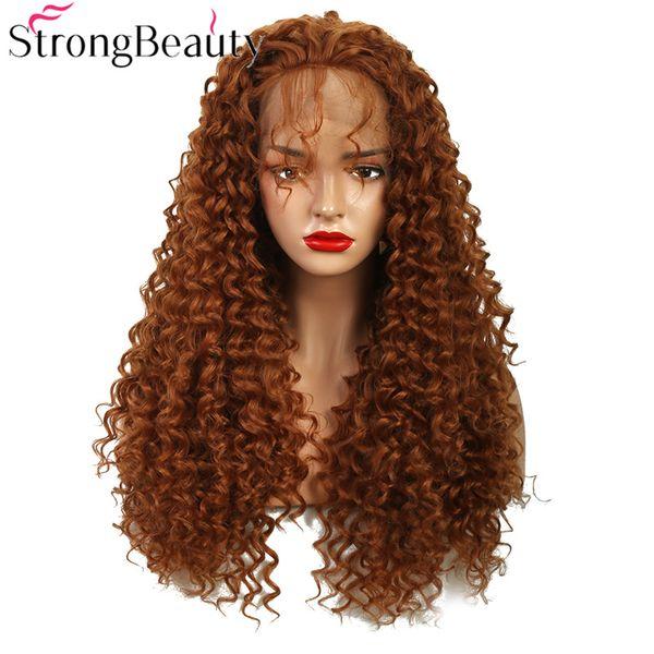 Parrucche naturali lunghe delle parrucche della parrucca delle parrucche dei capelli ricci anteriori sintetici lunghi della parrucca di colore chiaro / marrone / miste