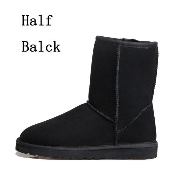 Com Caixa Designer Austrália Austrália Clássico Botas de Neve Ankle Boots Preto Cinza Castanho Azul Marinho Mulheres Menina Meia Botas Tamanho EUA 5-10