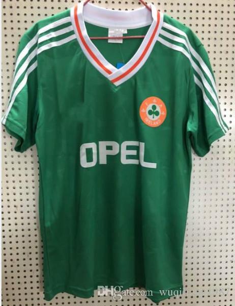 fb13a838e 1990 1992 Ireland retro soccer jersey 1990 world cup Ireland home classic  jersey 90 92 vintage Irish Sheedy size S-XXL football shirts