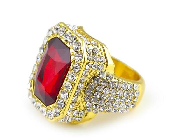золотой красный рубин