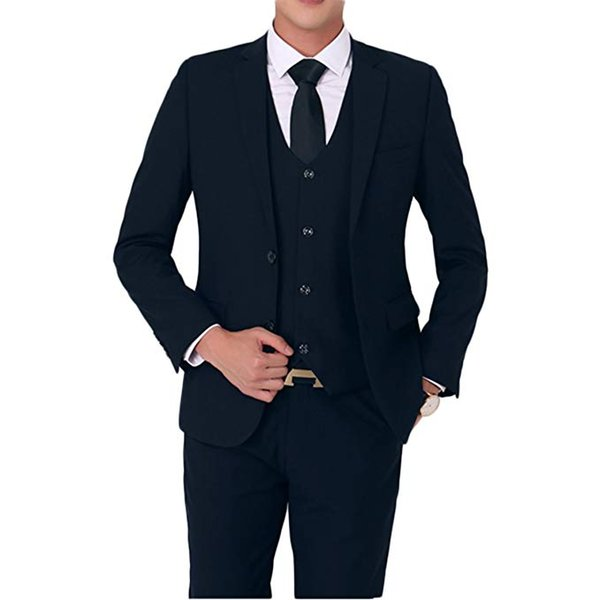 Mens Stylish Two Button 2-Piece Suit Blazer Jacket & Trousers Great for casual formal occasion Wedding party Bussiness
