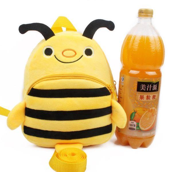 Delicate Light Yellow Bee Backpack Kids Cute Gift Cartoon Anti Stray Cartoon Plush Bag Children School Supplies 14sy Ww