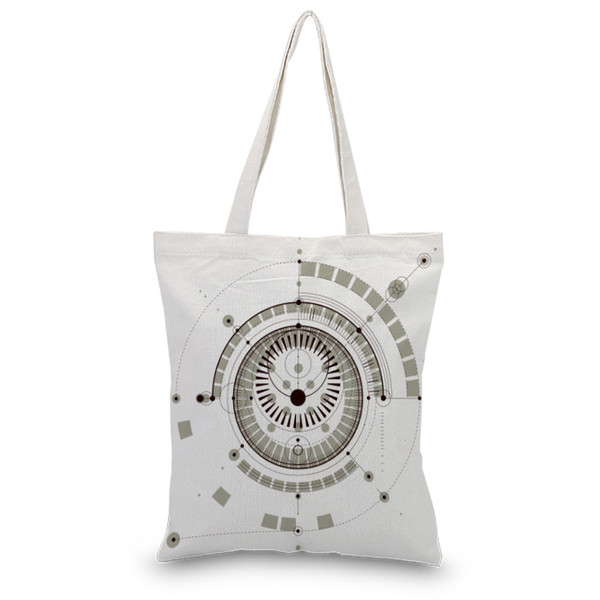 Shopping Bag Handbag Canvas Tote Bag Daily Use Print Custom Print Logo Text DIY Satchel Foldable Eco Reusable Recycle