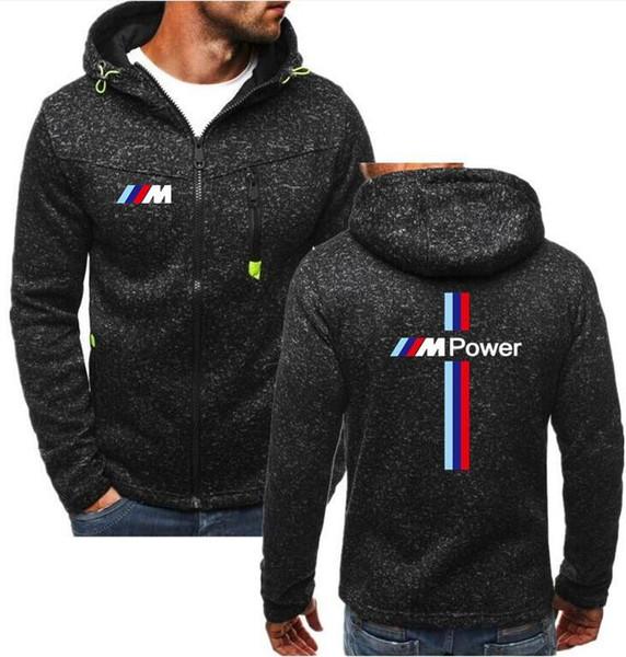 2019 marke joggings Männer Herbst Winter Dicke Warme Fleece Reißverschluss Mantel für Herren SportWear Trainingsanzug Männlichen M Power Print Hoodies