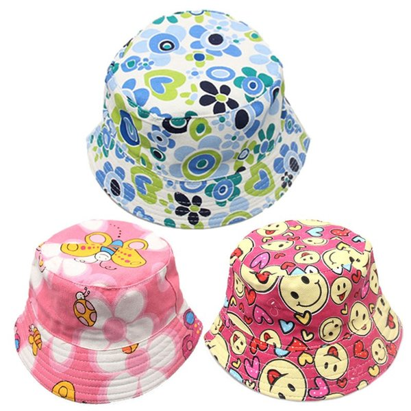 SCasual Children Flowers Sun Hats Cartoon Printed Canvas Caps For Summer Spring Stingy Brim Hats Factory Direct Sale 5xm BB