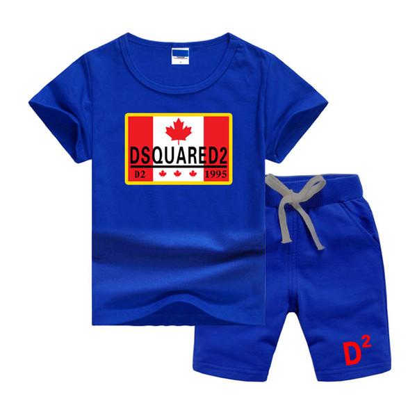 DSQ2LOGO Maple Leaf Classics Luxury Designer Baby T-Shirt Pantaloni Due pezzi 2-7 anni Abito per bambini Moda Bambini 2 pezzi Set di abbigliamento in cotone