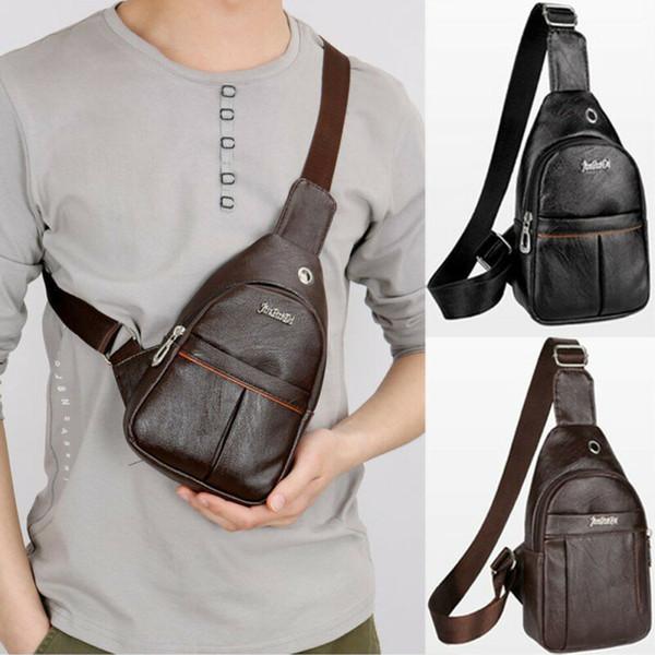 erkekler haberci çantası Tasarımcı omuz çantaları deri diyagonal paketin 2019 yeni seyahat çantası için erkekler göğüs çanta için Askılı çanta