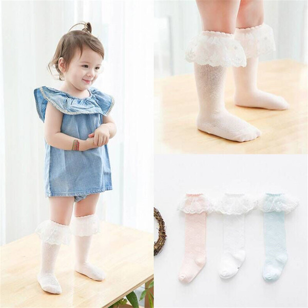 Summer Lace Baby Mesh Socks Newborn Toddler Cotton Knee Socks Baby Girls Boys Long Infant anti-mosquito knee high Sock