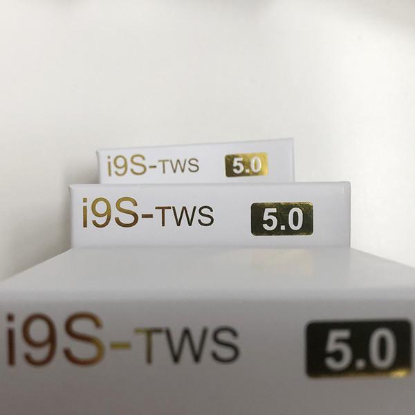 Top venda i9s tws 5.0 fone de ouvido fone de ouvido estéreo tws fones de ouvido para ios android phone com caixa de carregamento sem fio bluetooth fone de ouvido + case