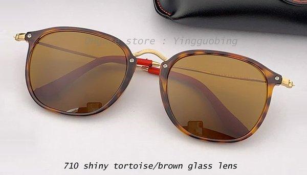 710 shiny tortoise/brown lens
