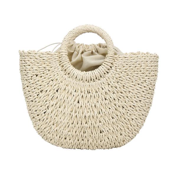OCARDIAN Handtasche Damenmode Wild Button Lässige Wind Messenger Bags Einfache Stroh Gewebte Tasche reine Farbe Handtasche dropship 13