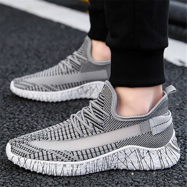 1fad77393122 Fly Weave Ulzzang Beach Shoes Breathable Men Rugged Footwear Fashion  Balmorals Trainers Super Fiber Upper Sneakers