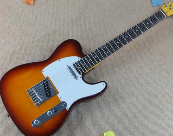 2019 vendita calda chitarra elettrica di colore di tramonto, negozio di chitarra high-end personalizzato, spedizione gratuita!