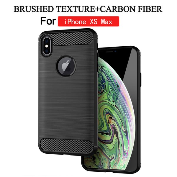 Brushed Carbon Fiber Case for iphone XS MAX XR XS Ultra This TPU Silicone Case for iphone 7 6 8 plus Case Cover