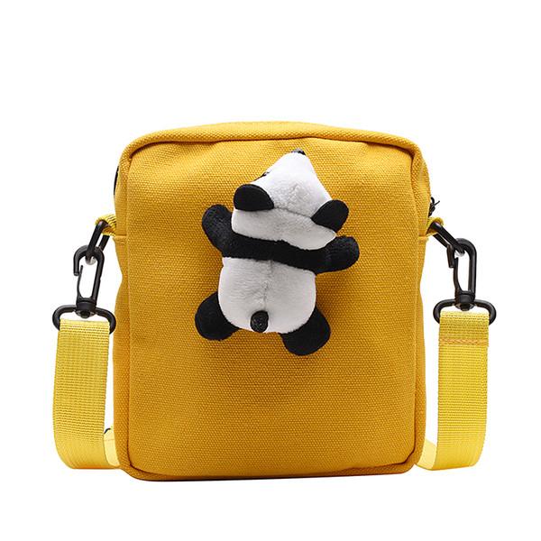 Nueva bolsa de mensajero femenino corazón chica japonesa linda muñeca del oso de la lona del estudiante bolsa de hombro envío libre