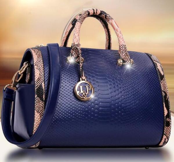 Mode Handtaschen Frauen Crossbody Ledertasche Boston Kissen Unregelmäßige Handtaschen Schwarz / Rot / Blau Lady Brand Berühmte Umhängetaschen