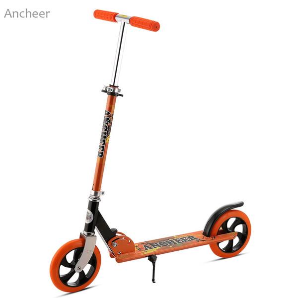 Ancheer El patinete de patada de 2 ruedas más nuevo Adolescente adulto Ligero plegable 3 niveles Altura ajustable Patinete de patada de 2 ruedas