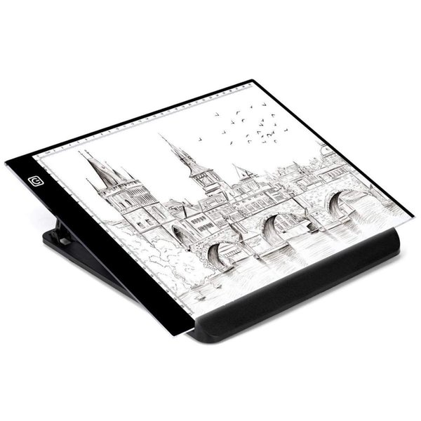 A4 Drawing Light Board for Diamond Painting Kits,Tracing Light Pad Box,Table Copy Pad (USB Power,Adjustable Brightness,LED Art