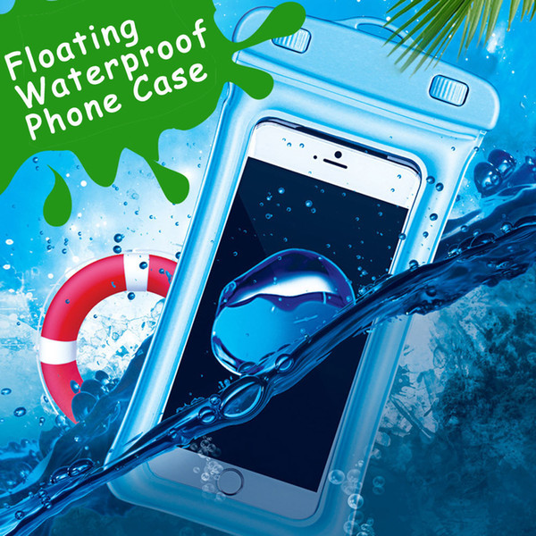 Floating Cell Phone Dry Bag For Iphone X Waterproof Case Cover Underwater Pouch C19041301