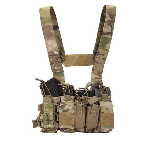 gilet tattico Torace Rig Rapid Assault esercito Armatura Airsoft wargame pesca Gilet da caccia Equipaggiamento da combattimento