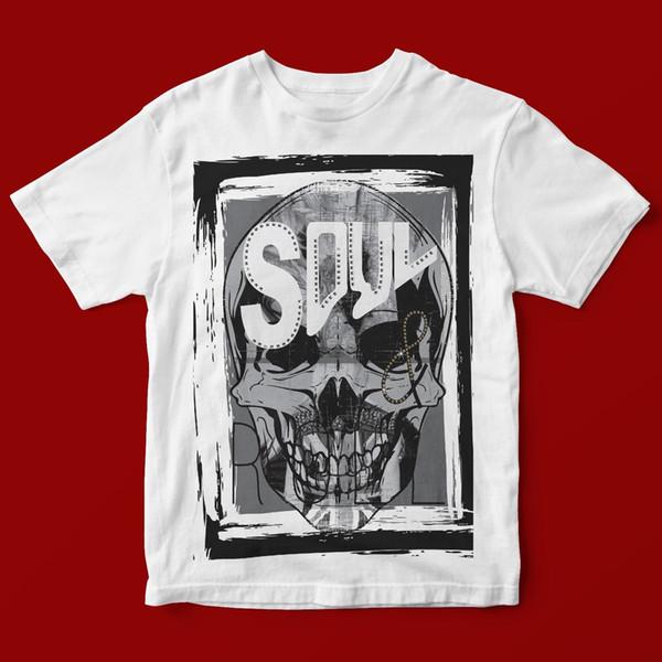 SOUL KAFATASI T-SHIRT UNISEX 513 Kısa Kol Büyük Beden tişört