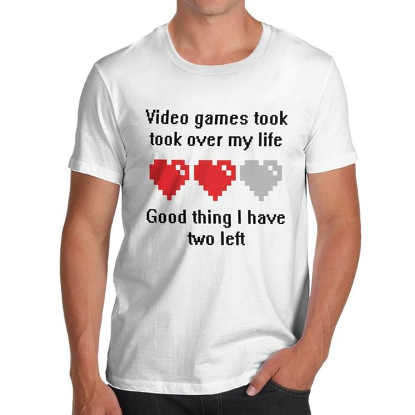 Women's Video Games Took Over My Life, I have Two Lives Left Funny T-Shirt Men Women Unisex Fashion tshirt Free Shipping black