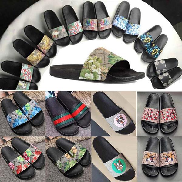 Plattform Sandalen Top Qualität Männer Frauen Luxus Designer Hausschuhe Sommer Marke Strand Schuhe Indoor Gear Böden Flip Flops Slipper Wasserrutschen