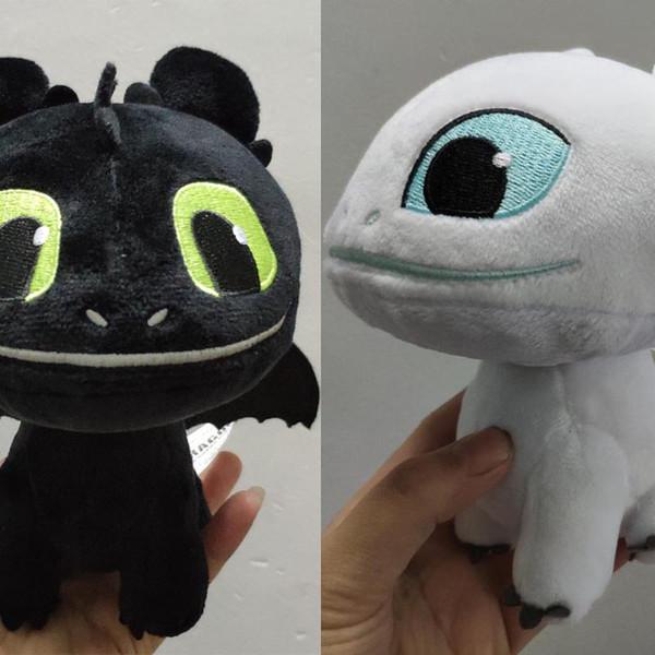 How to Train Your Dragon 3 Plush Toy White Dragon 2019 Novo filme desdentado Luz Fúria macia dragão de pelúcia boneca de Natal Gif C13