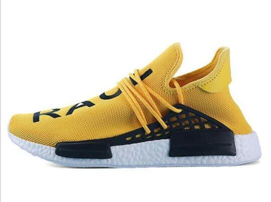2019 human race Hu trail x pharrell williams men running shoe Solar Pack Afro Holi Blank Canvas men trainers women sports sneaker