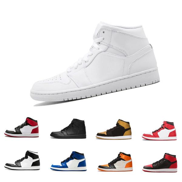 Sapatos de basquete 1 OG Alta Banido preto vermelho branco homens tênis de basquete 1 s calçados esportivos formadores sapatilhas 23