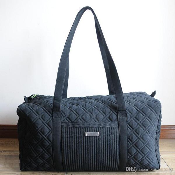 bolsa de lona grande negro clásico