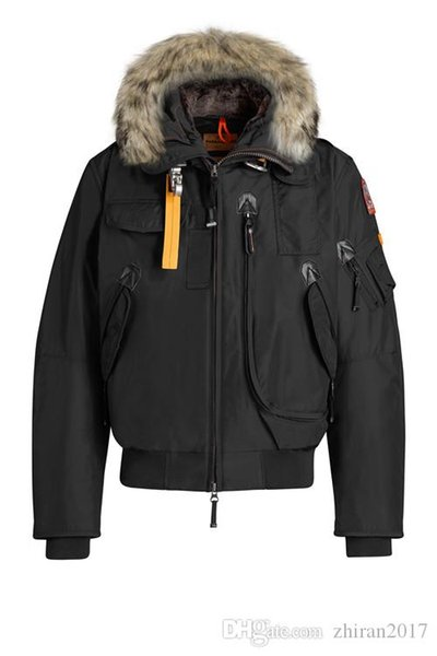 2020 parajumper men down parka new thick warm and windproof waterproof long ection lim olid color goo e down jacket gobi winter, Black