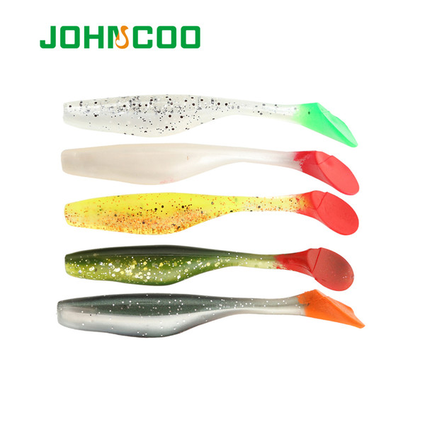 Fishing Lure Soft Bait 6pcs 9cm 5.3g Soft Worm Silicone Bait Swimbait Bass Shad Wobbler
