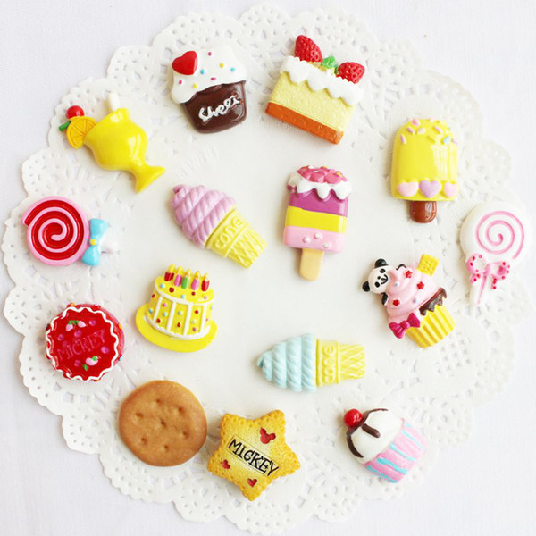 ZOCDOU 1 Piece Cute Sweet Magnetic Fridge Message Board Magnets Blackboard Stick Magnet Sweets Cake Sugary Ice Cream