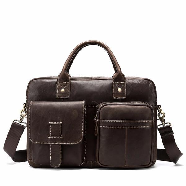 Famous Brand Business Men Briefcase Bag Luxury Leather Laptop Bags For Man Shoulder Bag Vintage Crossbody Bags bolsa maleta