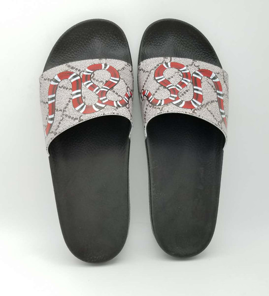 best selling Mens Womens Fashion Rubber Slides Sandals With Pearl Tiger Snaker Flower Outdoor Beach Slippers Casual Flip Flops
