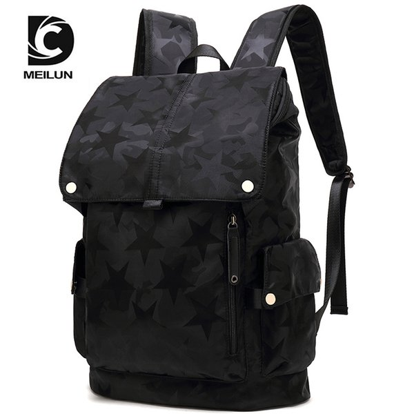 Fashionabl Leisure Nylon Men's Backpack Waterproof Anti-theft Backbag Teenagers Student Bookbag Travel Multifunction Backpacks