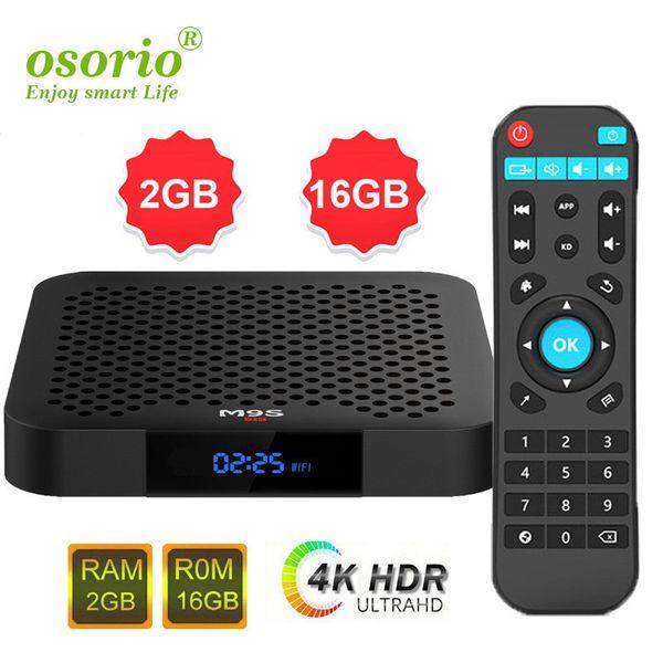 M9S W2 S905W Android TV Box 2GB 16GB Quad Core 100M Lan 2.4G WiFi 4K VP9 HDR10 IPTV Android 7.1 Smart media player Better S9 PRO TX6 TX3