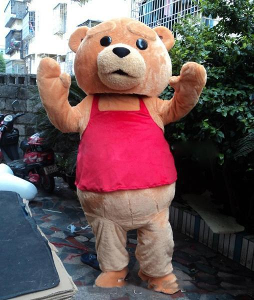 2019 High quality 100% positive feedback seller new ted costume teddy bear mascot costume Free Shipping