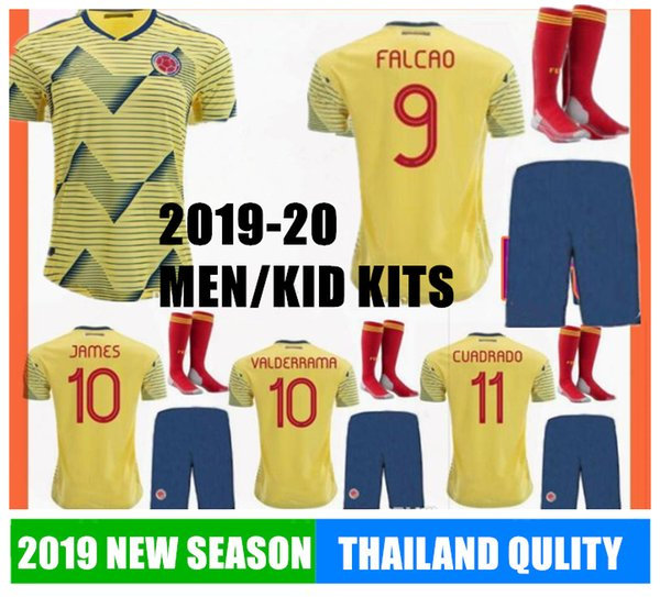 World Cup 2020 Colombia.2019 2020 Colombia Soccer Jersey Home Away Falcao Cuadrado Valderrama Calcio Futbol Football World Cup Russia Away Hot Top Shirts Quality 19 From
